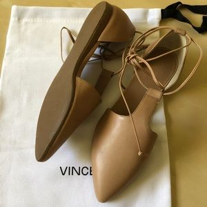 Vince 'Noella' Leather Lace-Up Flats